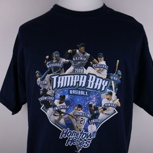 Tampa Bay Rays 2008 Baseball Heroes Shirt XL
